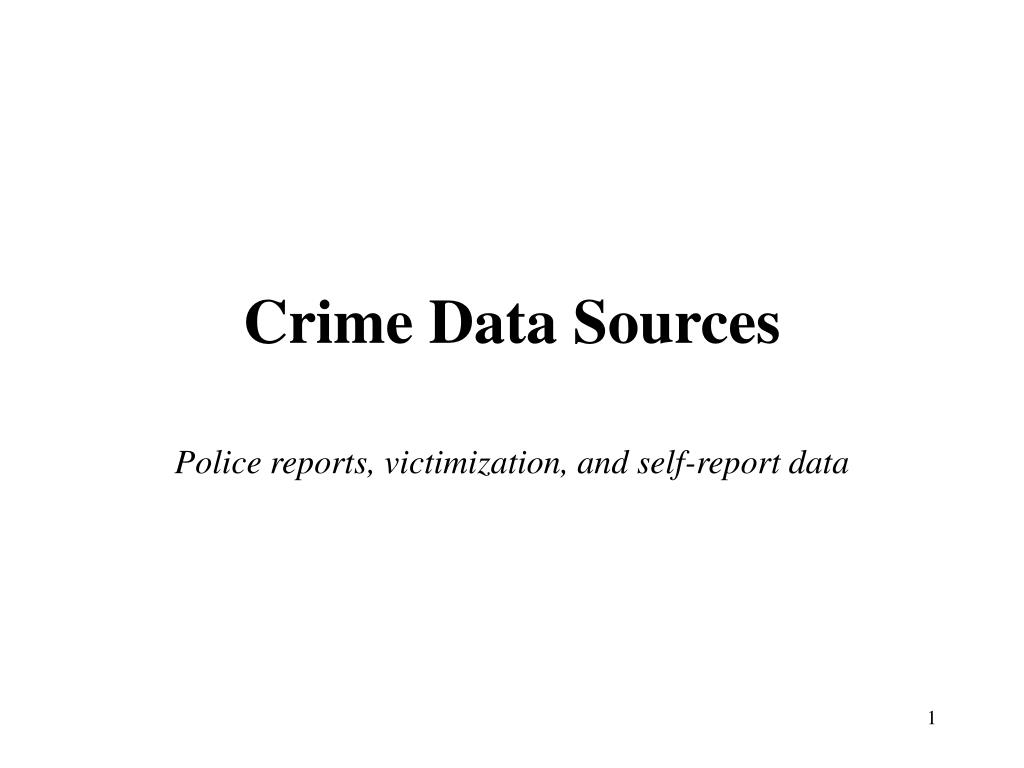 Crime Data Sources