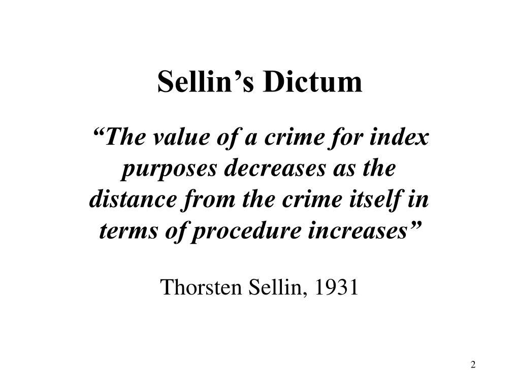 Sellin's Dictum