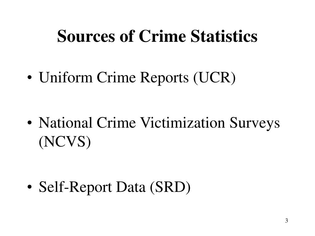 Sources of Crime Statistics