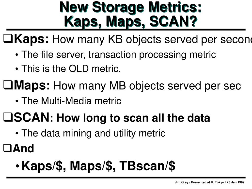 New Storage Metrics: