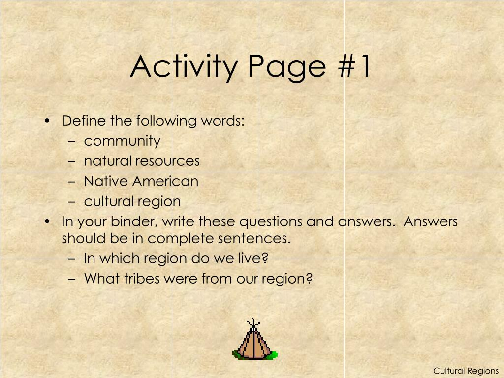 Activity Page #1