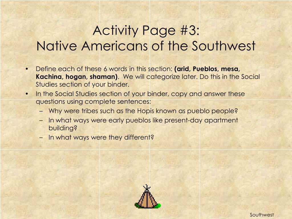 Activity Page #3: