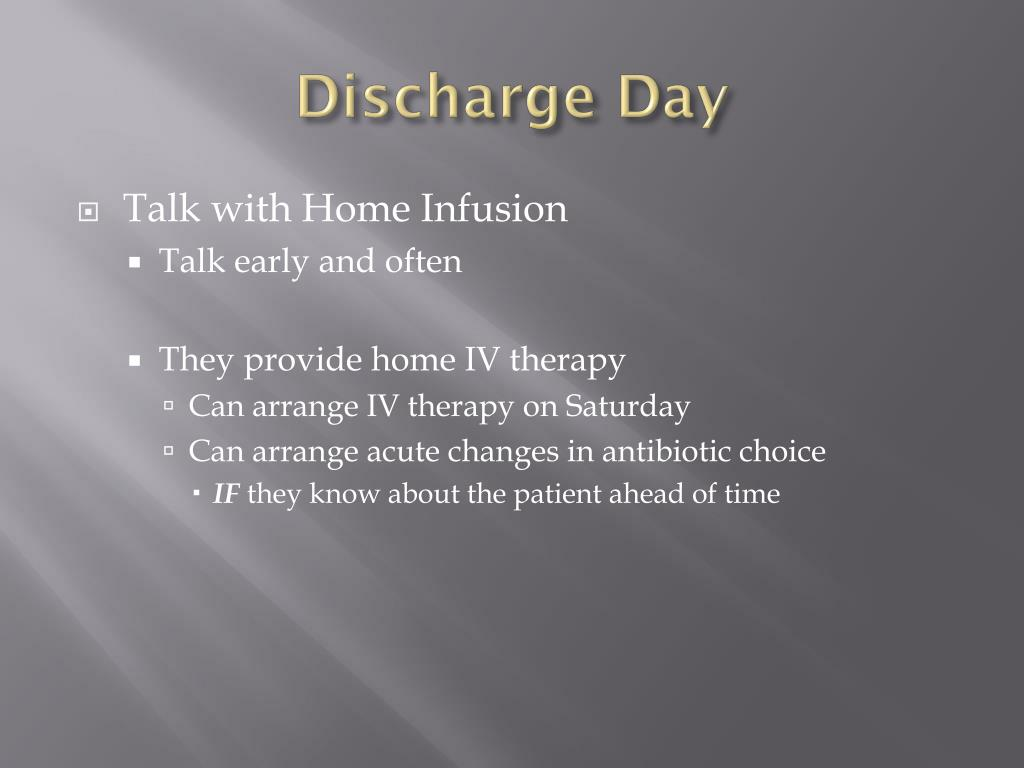 Discharge Day