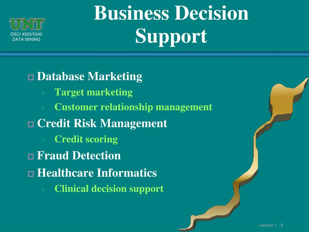 Business Decision Support