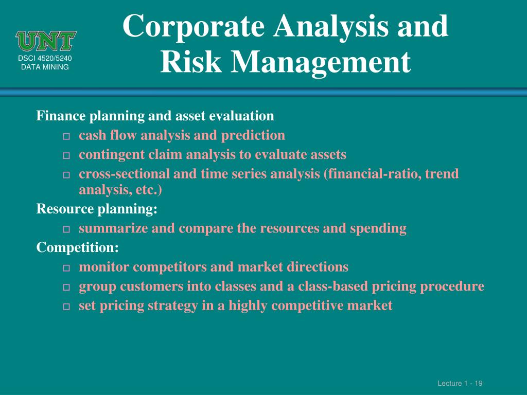 Corporate Analysis and Risk Management