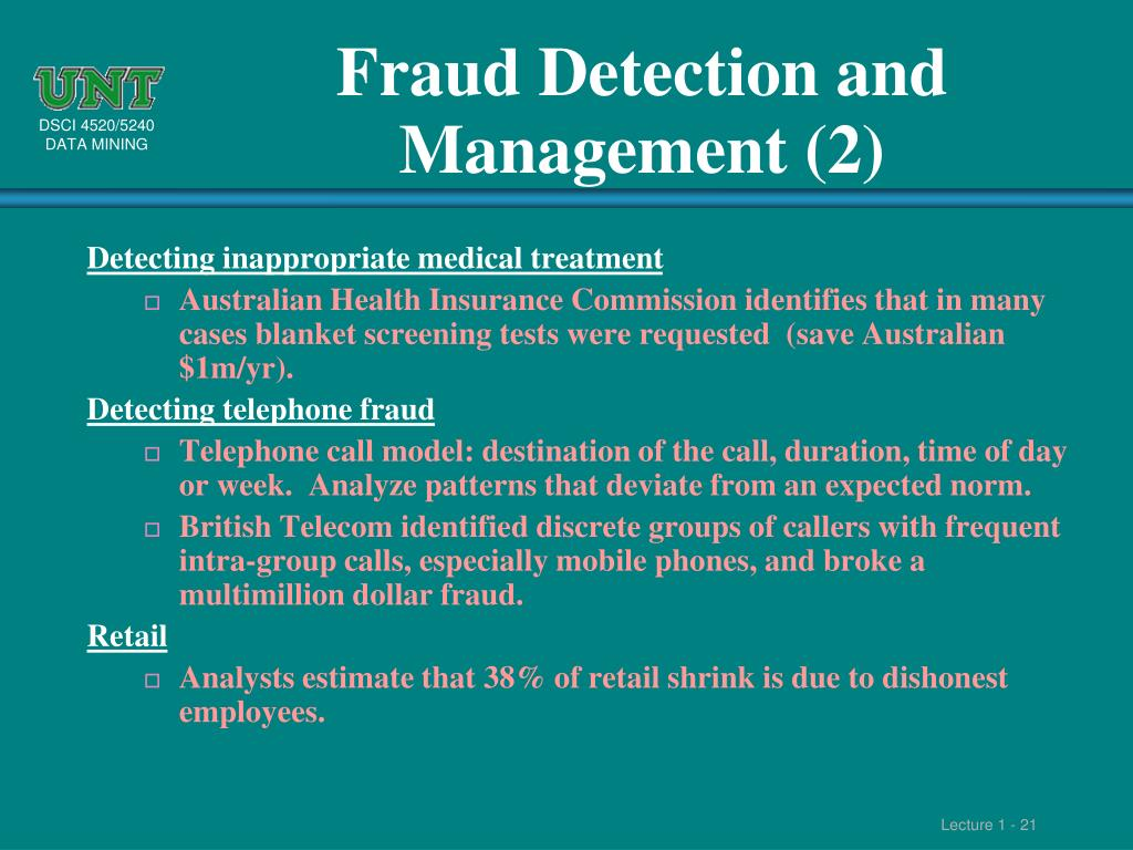 Fraud Detection and Management (2)