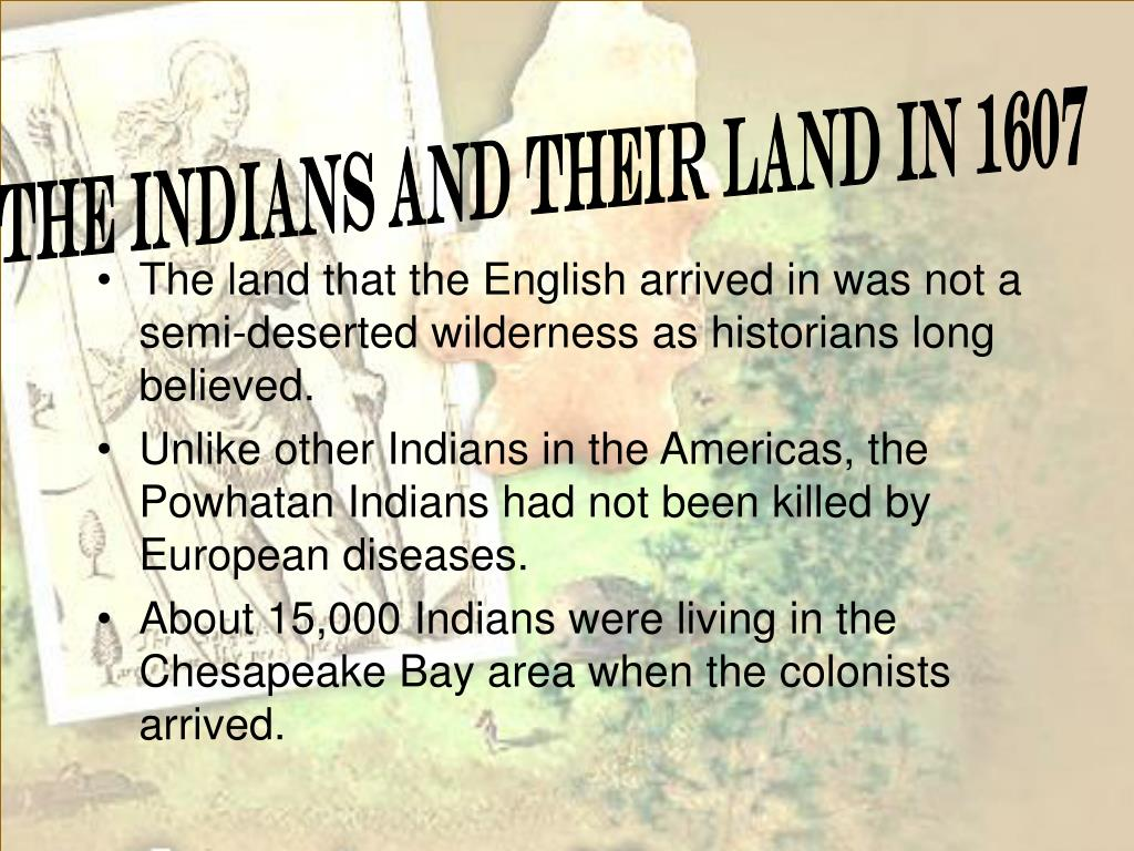 The Indians and Their Land in 1607