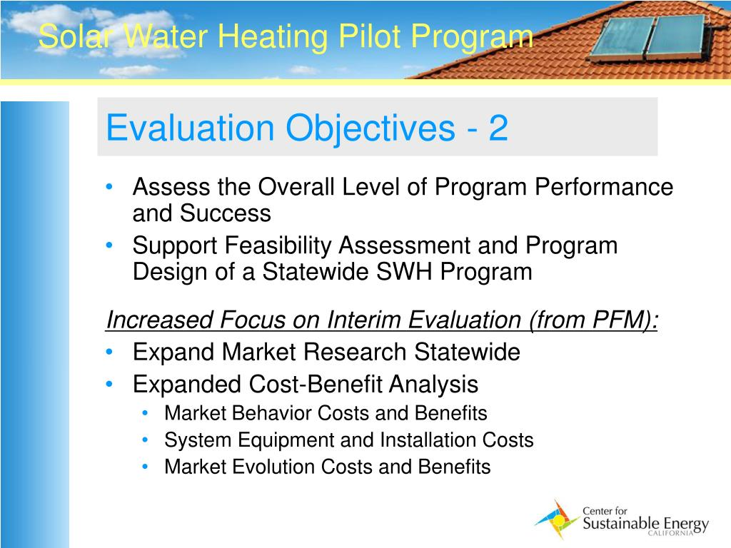 Evaluation Objectives - 2