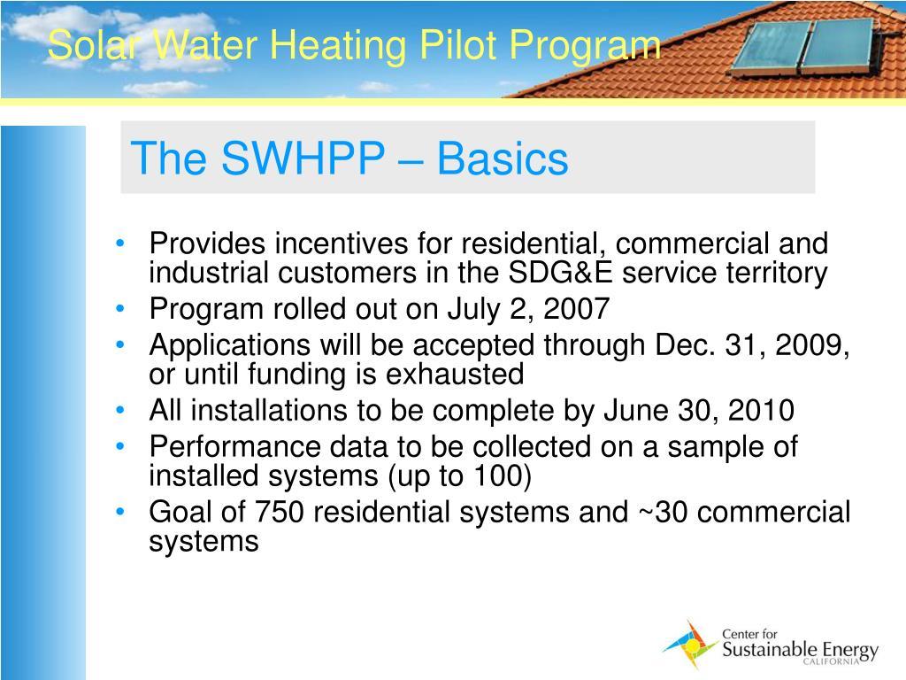 The SWHPP – Basics