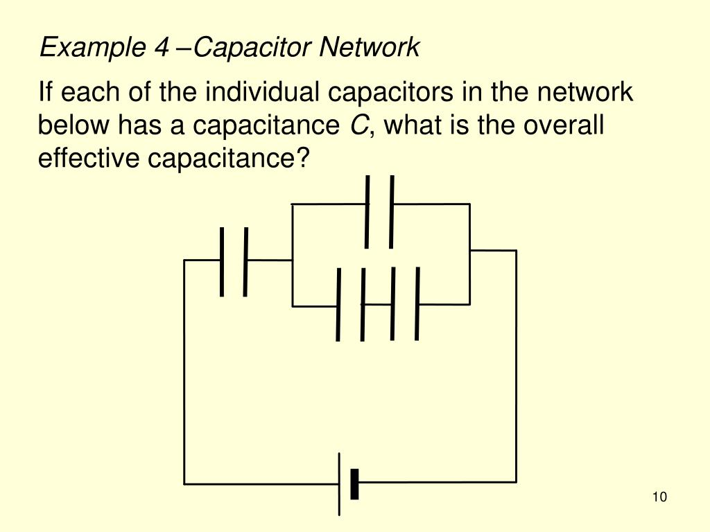Example 4 –Capacitor Network
