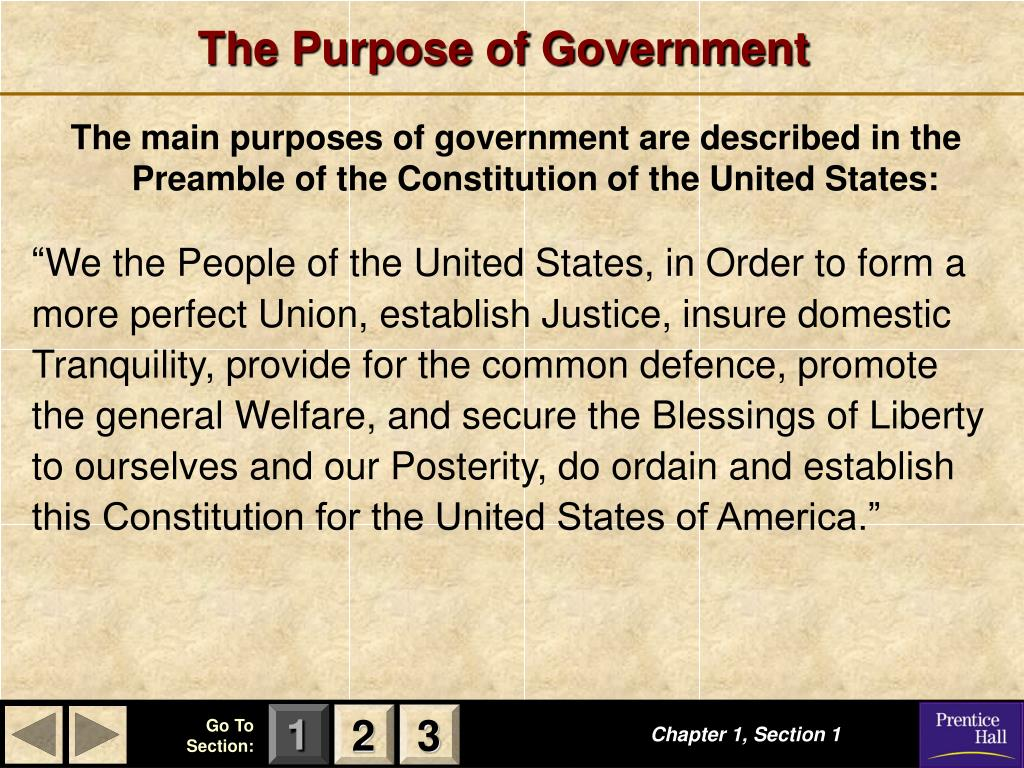 The Purpose of Government