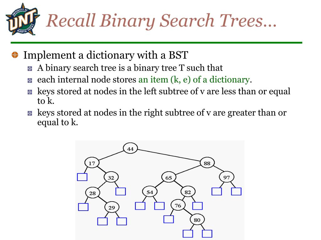 Recall Binary Search Trees…