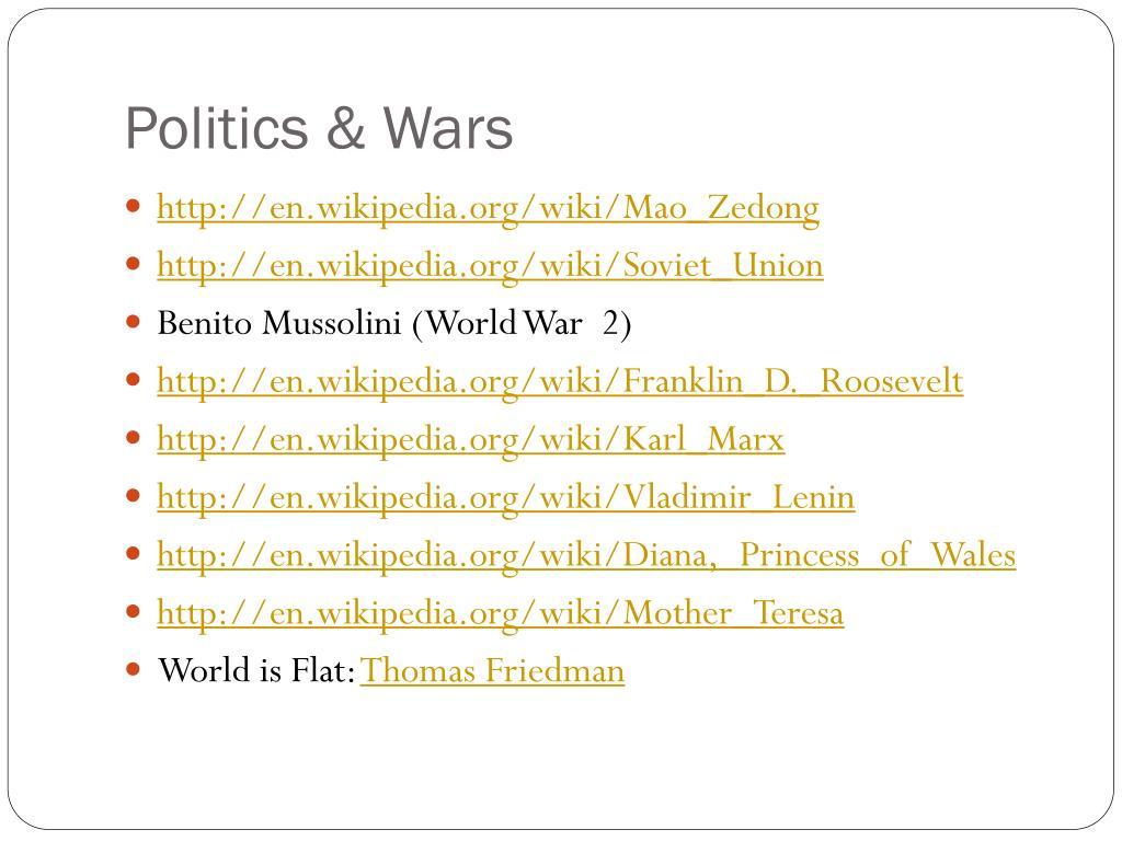 Politics & Wars