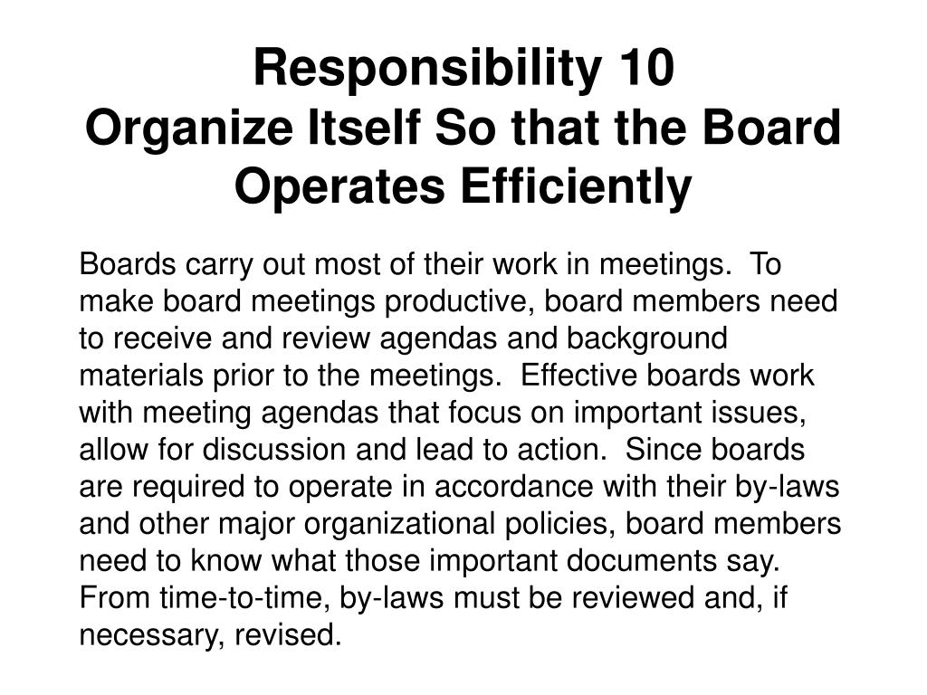 Responsibility 10