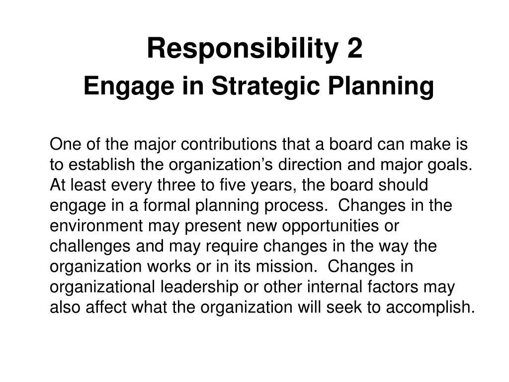 Responsibility 2
