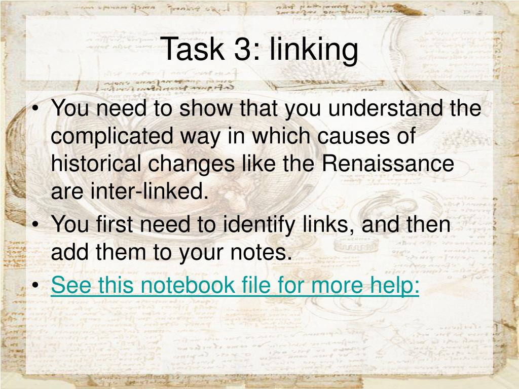 Task 3: linking