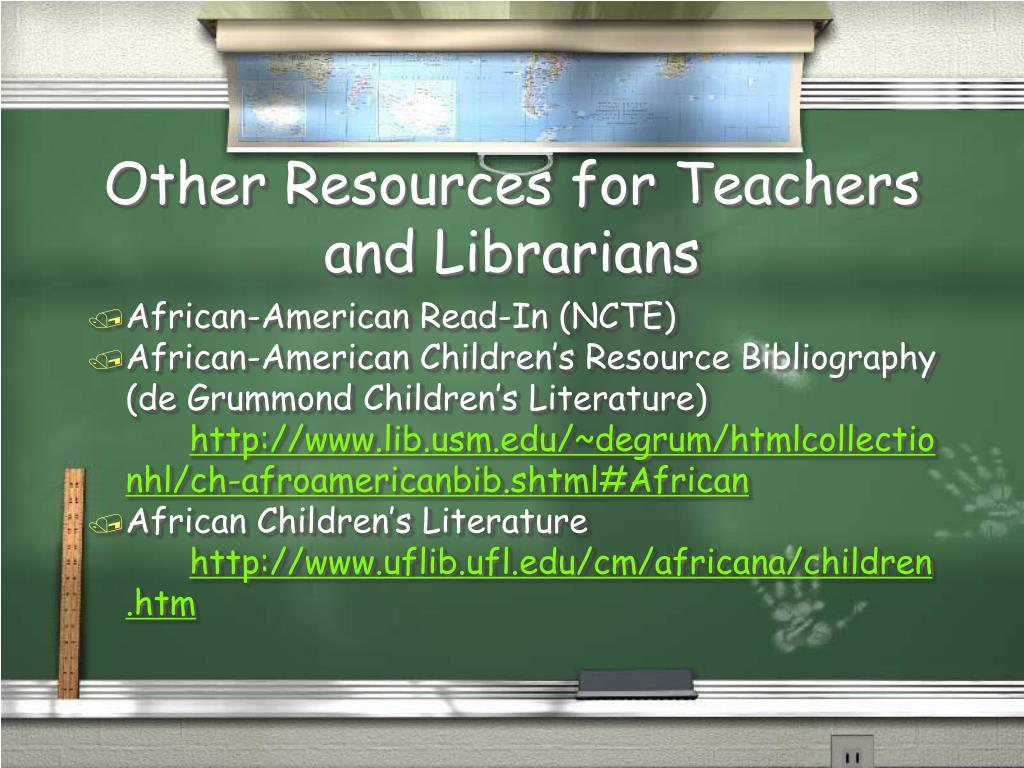 Other Resources for Teachers and Librarians