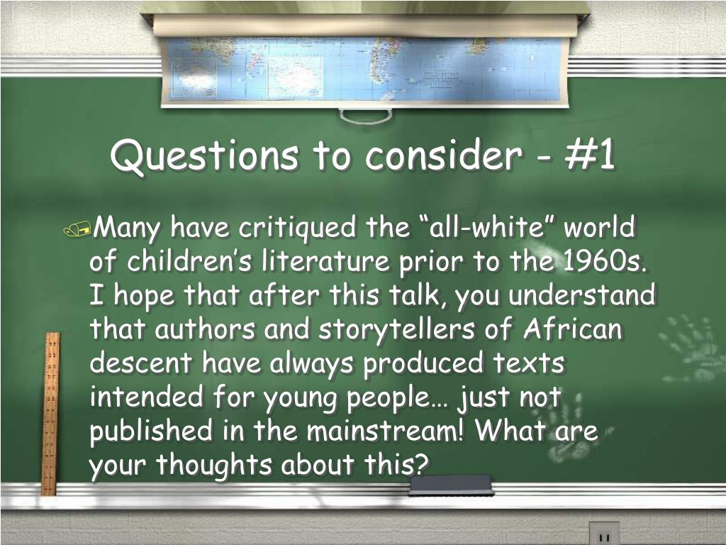Questions to consider - #1