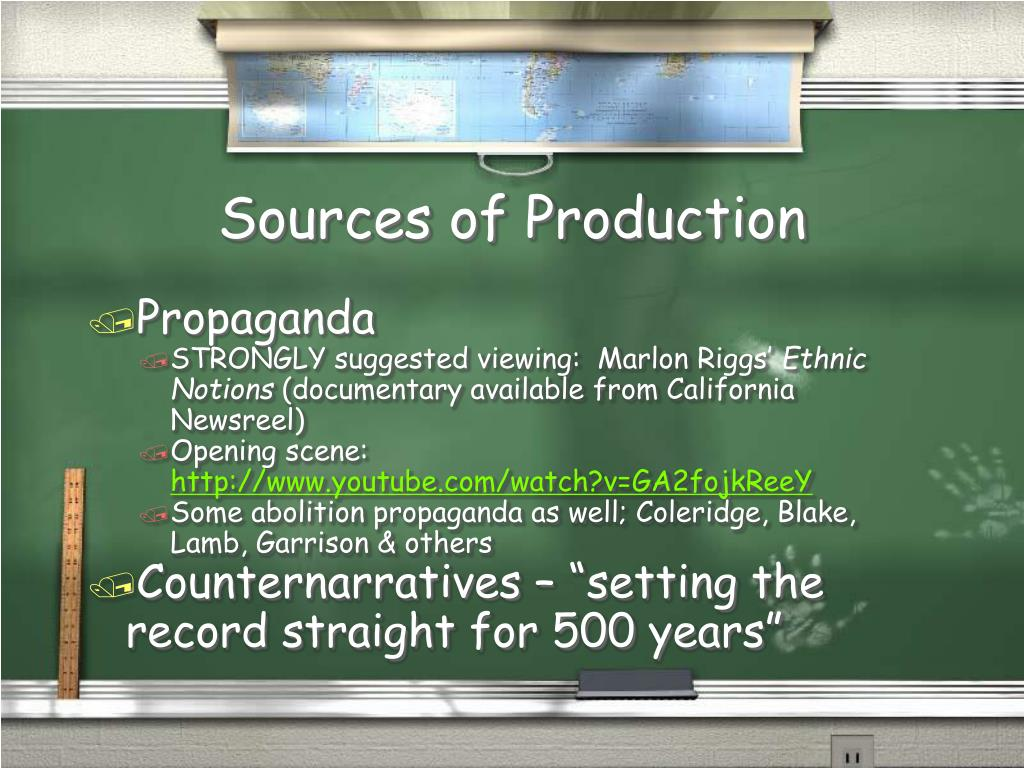 Sources of Production