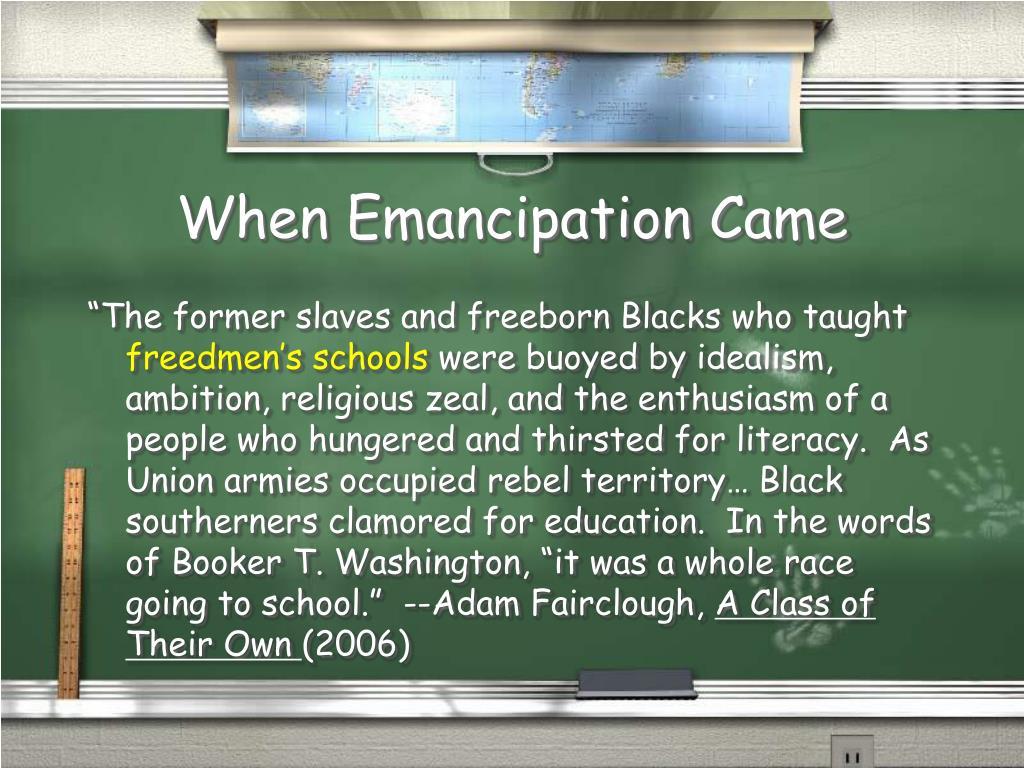 When Emancipation Came