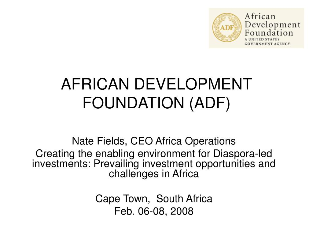 AFRICAN DEVELOPMENT