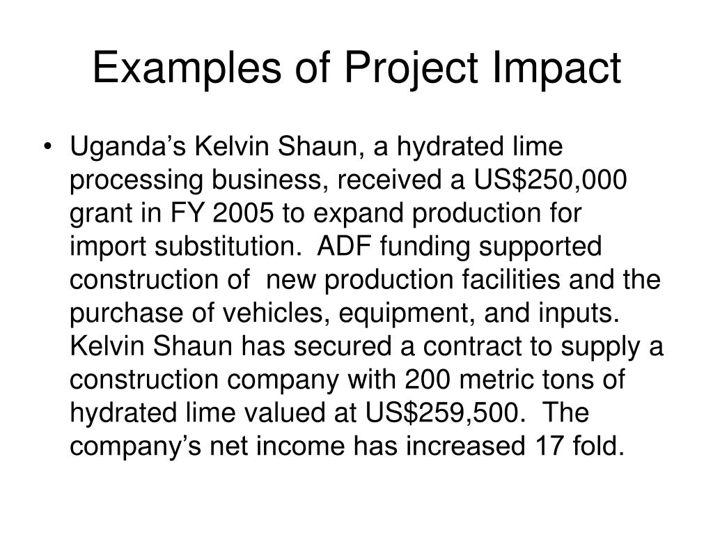Examples of Project Impact