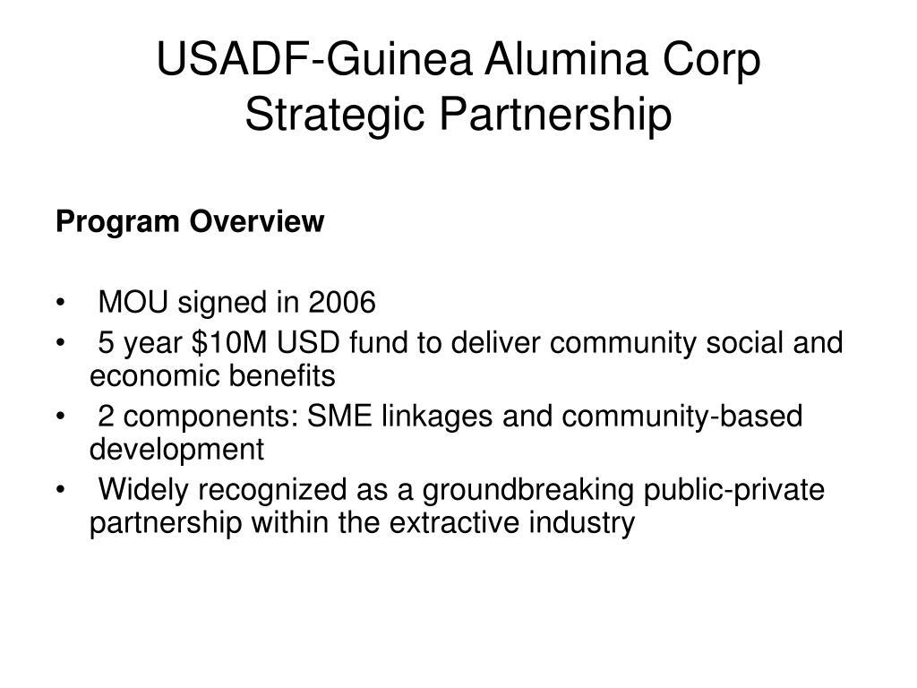 USADF-Guinea Alumina Corp