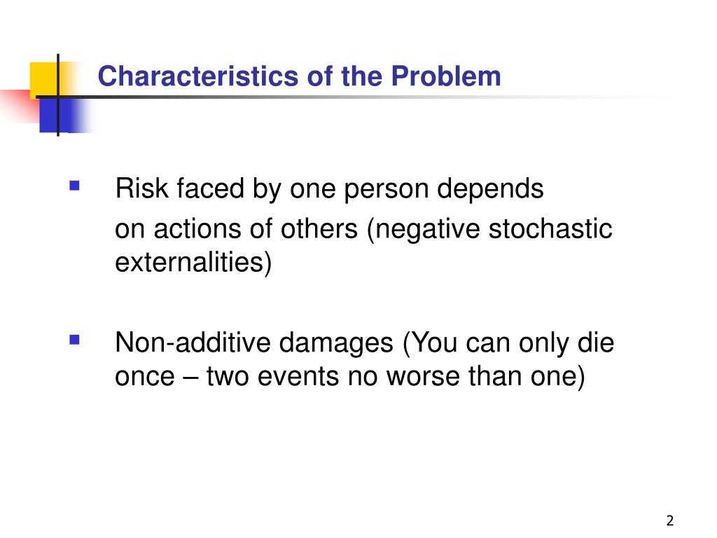 Characteristics of the Problem
