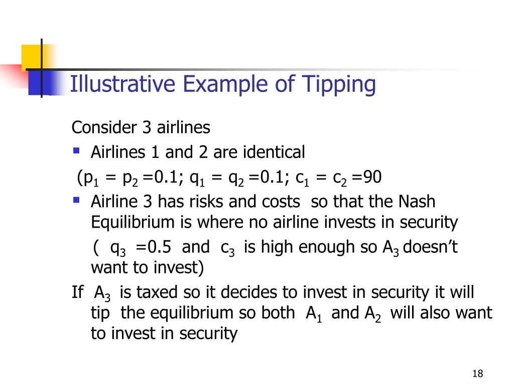 Illustrative Example of Tipping