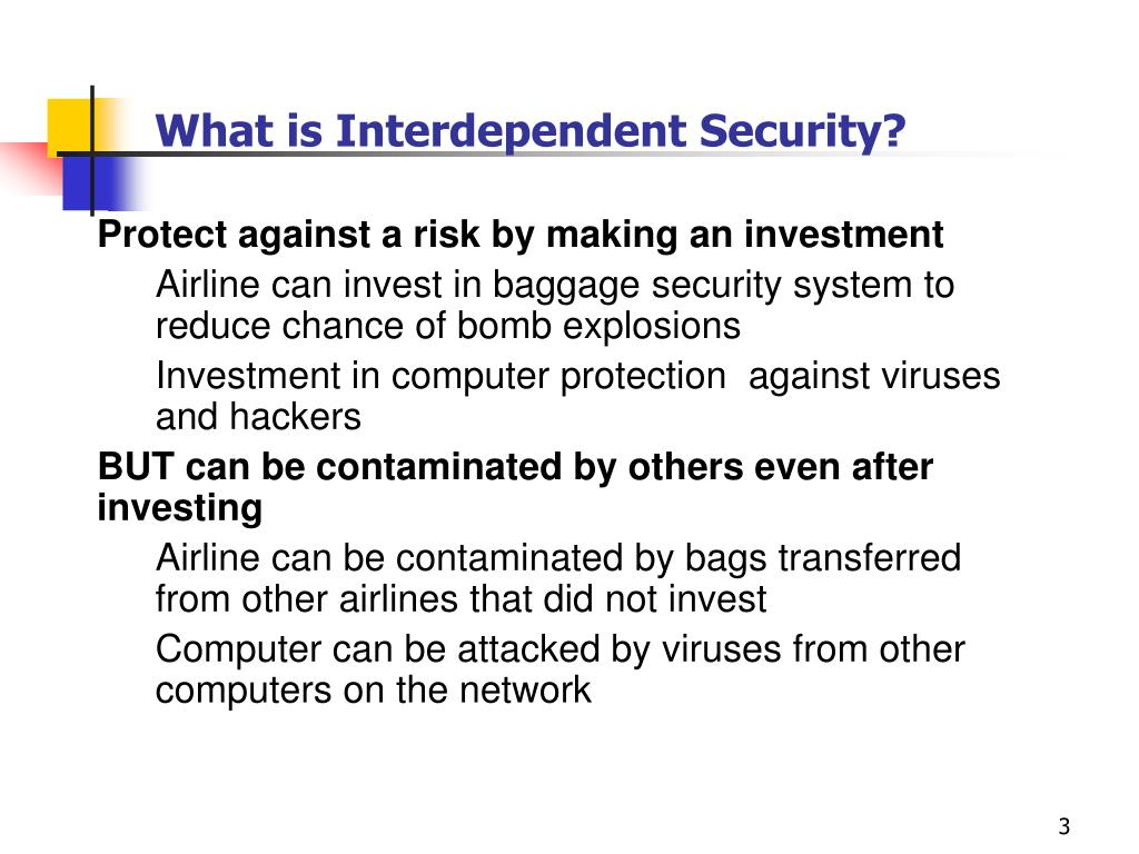 What is Interdependent Security?
