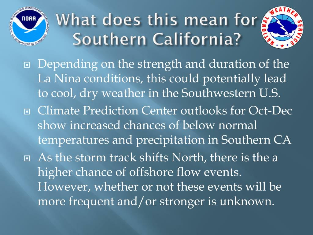 What does this mean for Southern California?