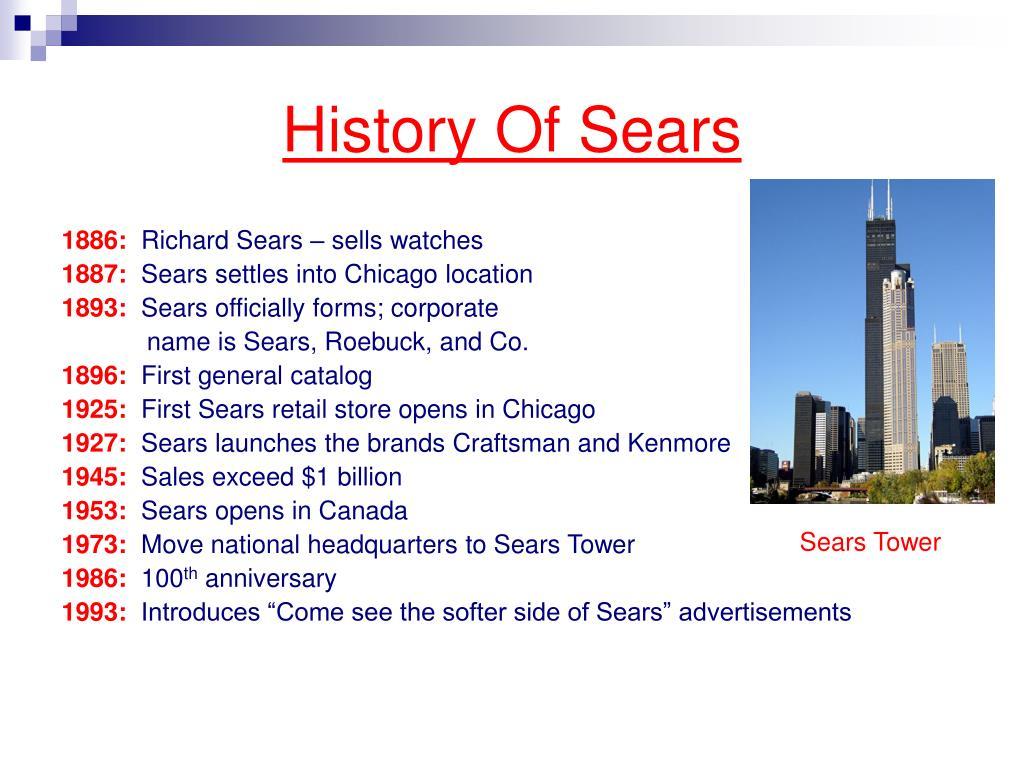 History Of Sears