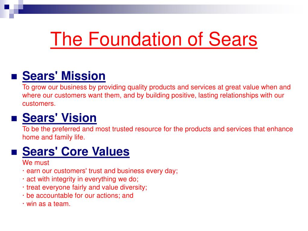The Foundation of Sears