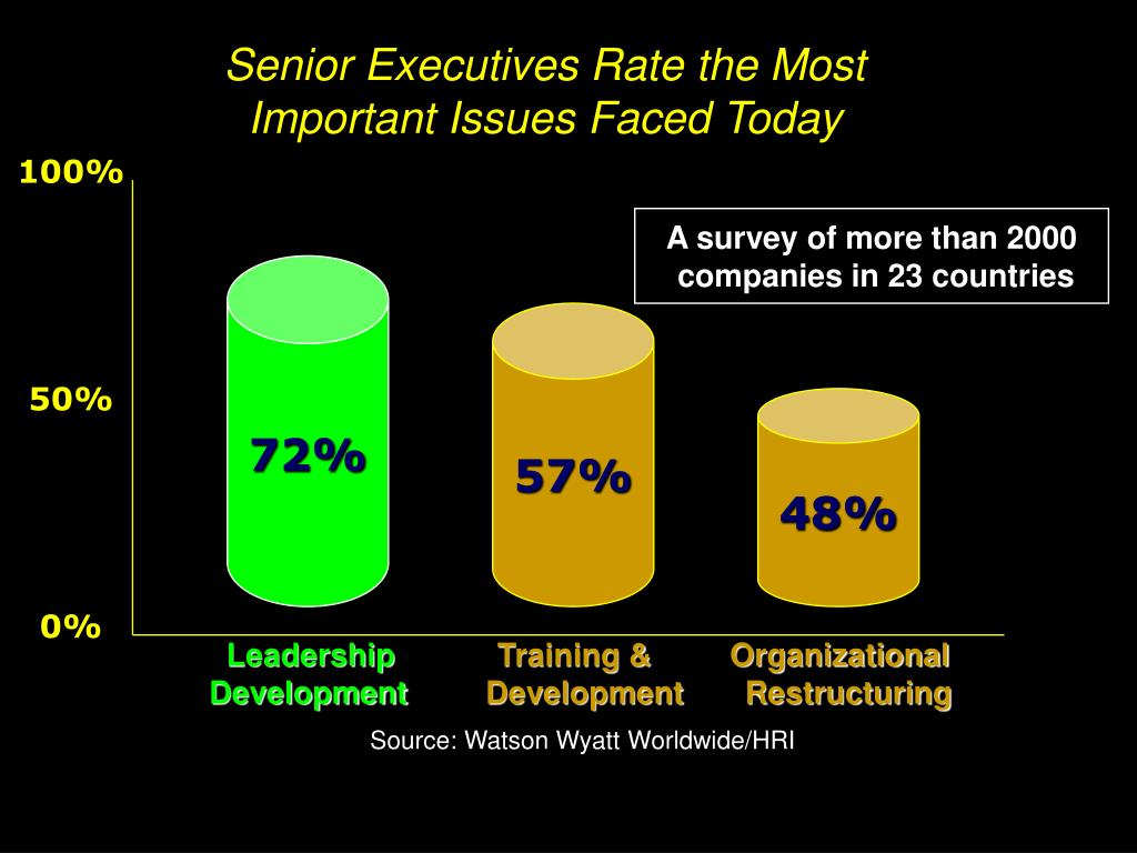 Senior Executives Rate the Most