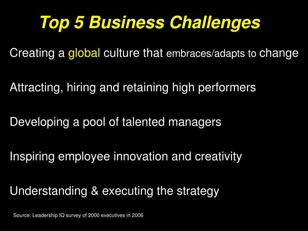 Top 5 Business Challenges