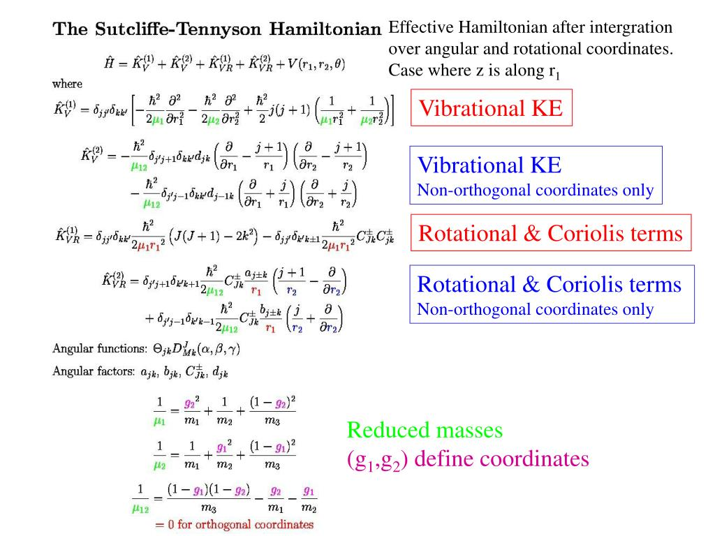 Effective Hamiltonian after intergration
