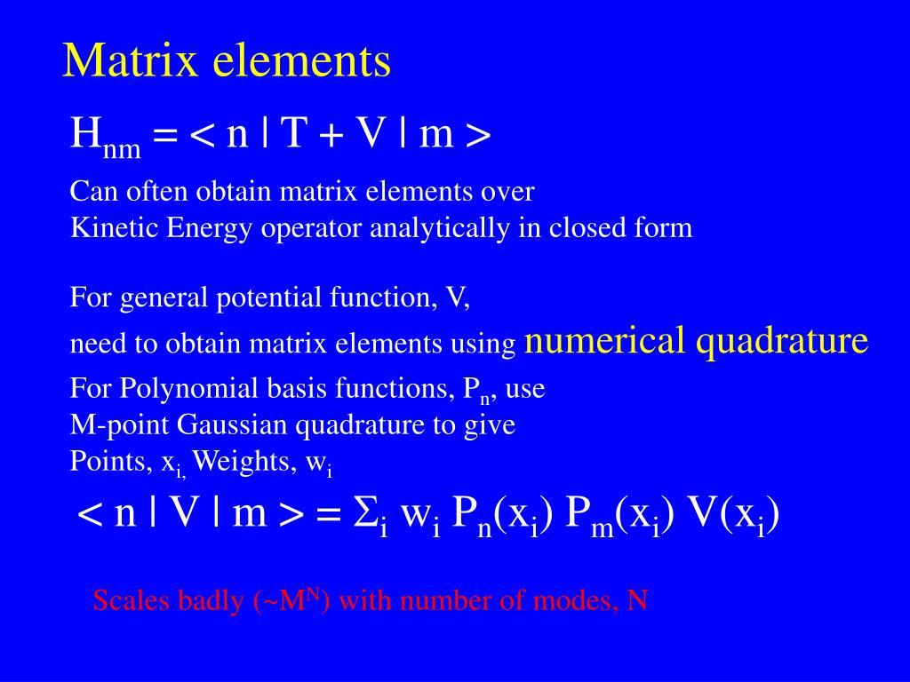 Matrix elements