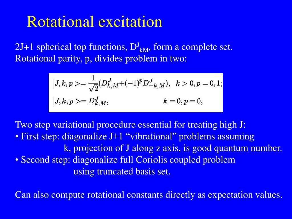 Rotational excitation