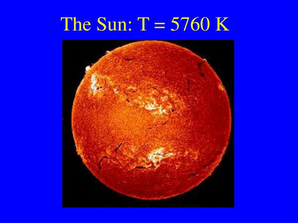 The Sun: T = 5760 K