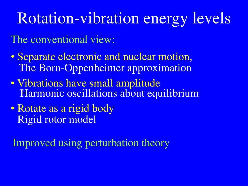 Rotation-vibration energy levels