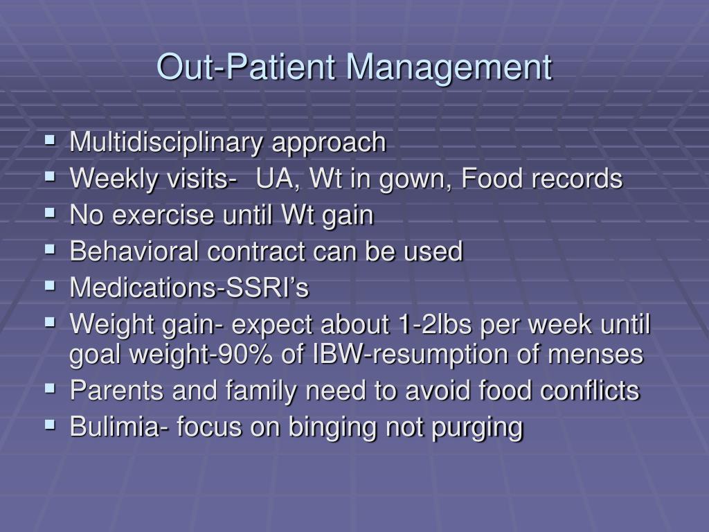 Out-Patient Management