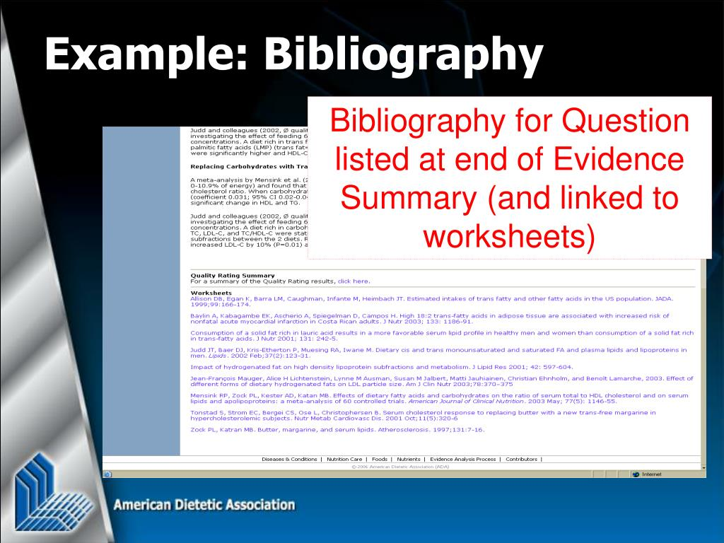 Example: Bibliography