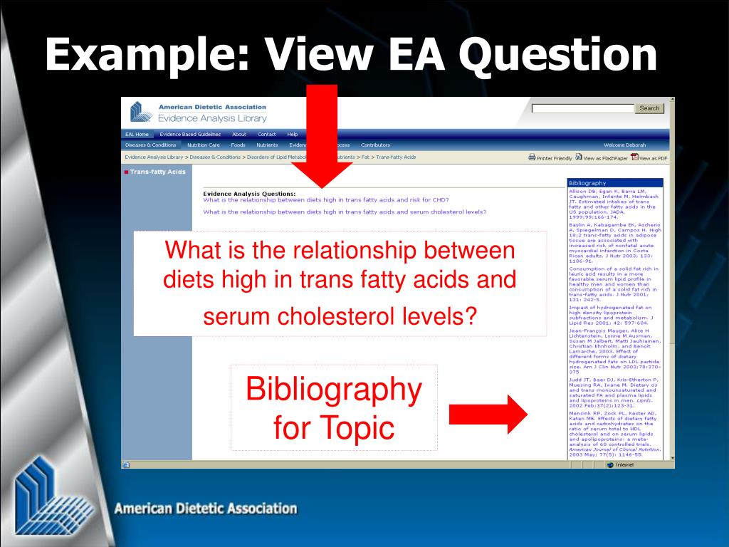 Example: View EA Question