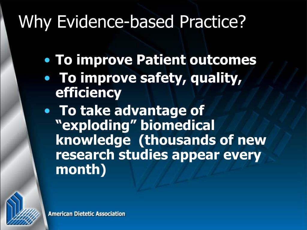 To improve Patient outcomes