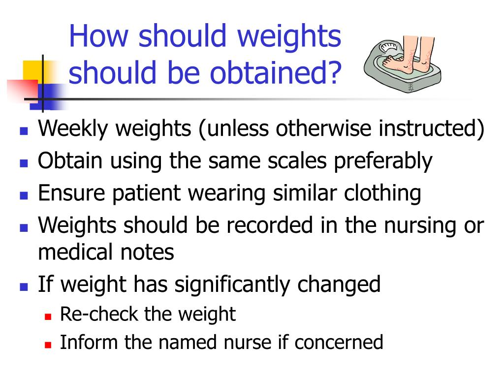 How should weights