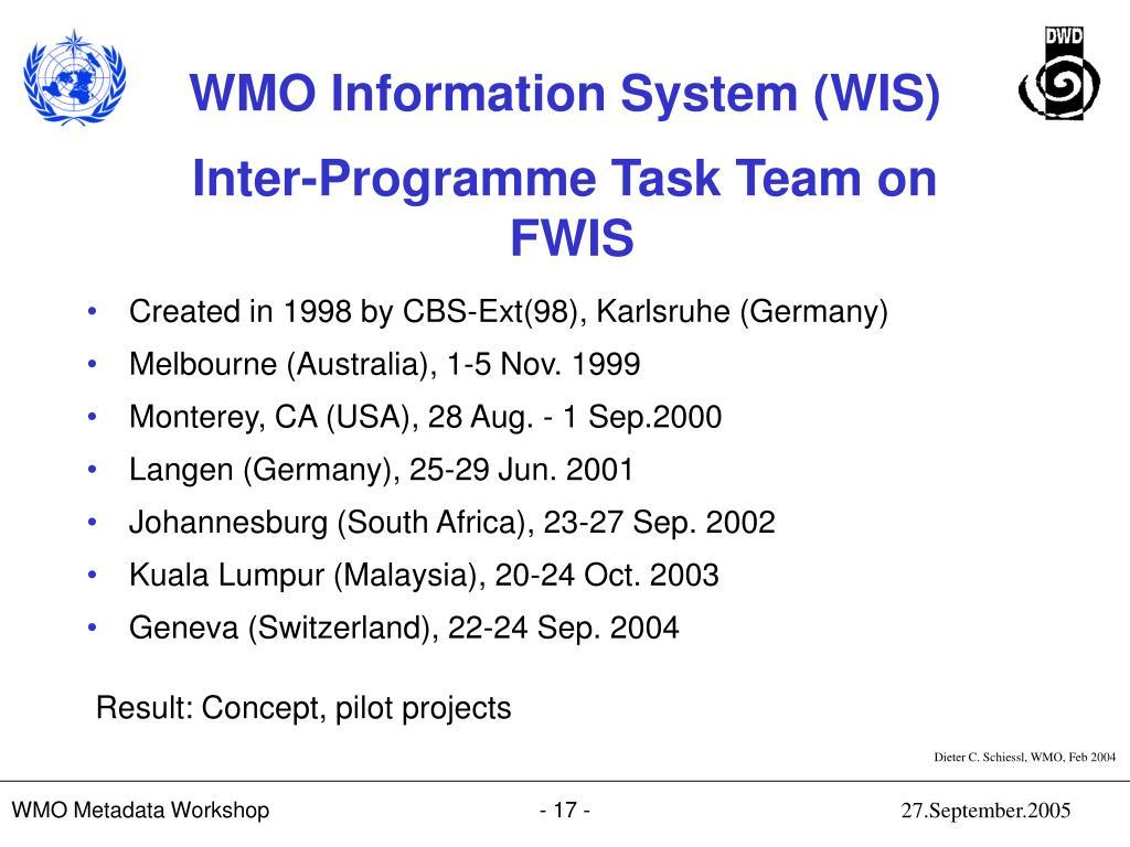 Inter-Programme Task Team on