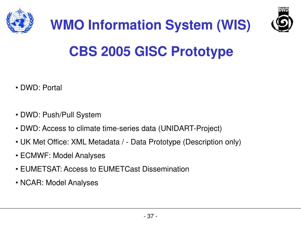 CBS 2005 GISC Prototype