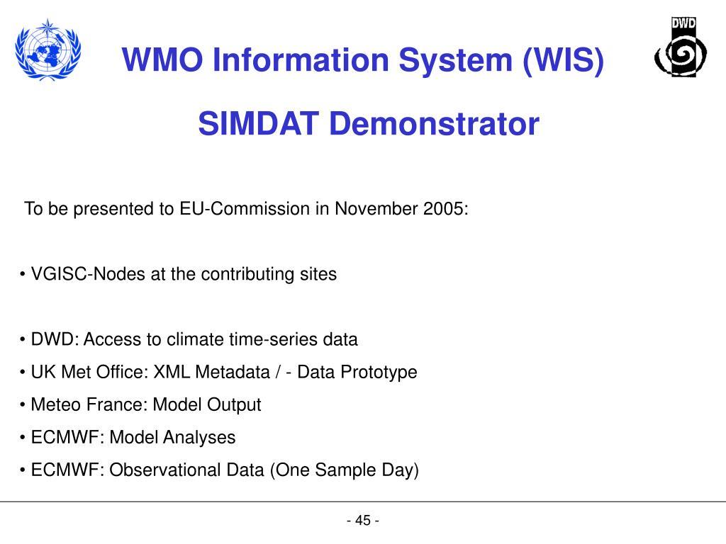 SIMDAT Demonstrator