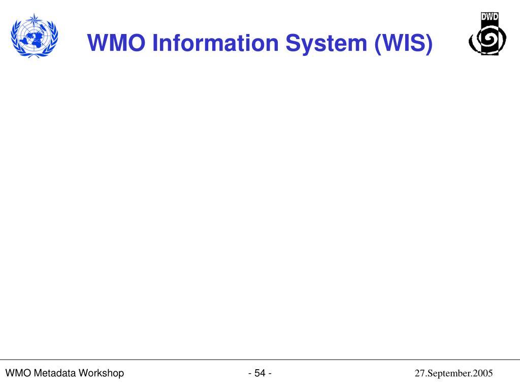 WMO Metadata Workshop