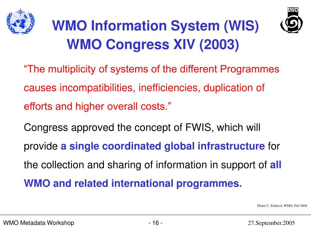 WMO Congress XIV